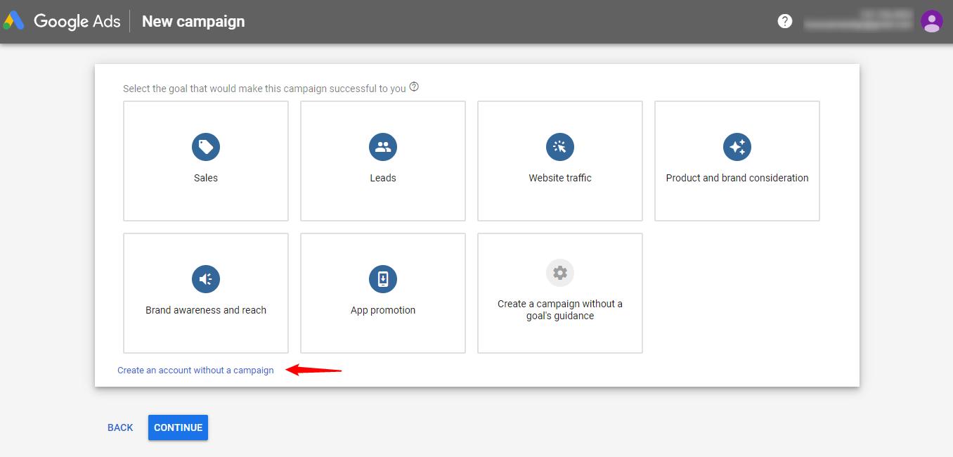 Create Google Keyword Planner Account