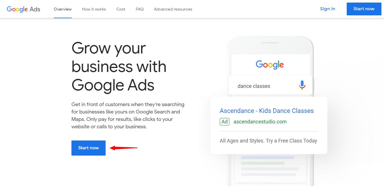 Google keyword planner signup