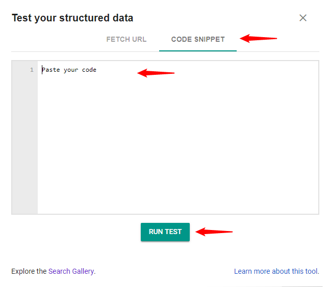Structured Data Code Test