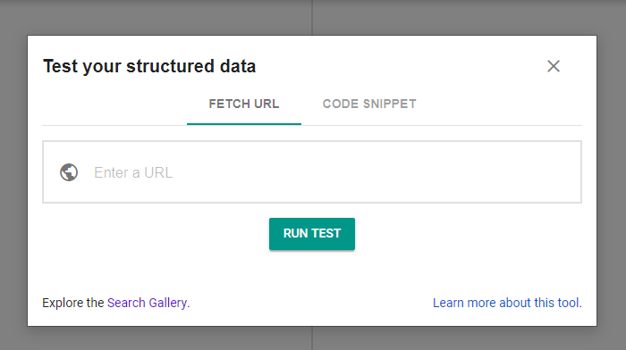 Url or code Rich Snippet check