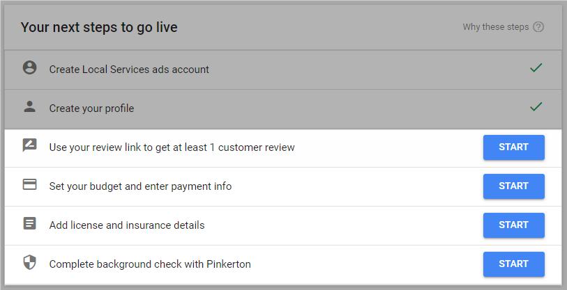 Google Guarantee program approval steps